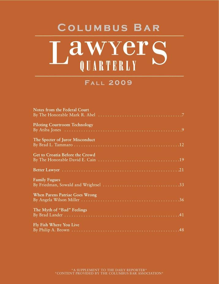 Columbus Bar Lawyers Quarterly (2009 - Fall)