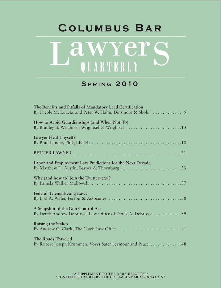 Columbus Bar Lawyers Quarterly (2010 - Spring)