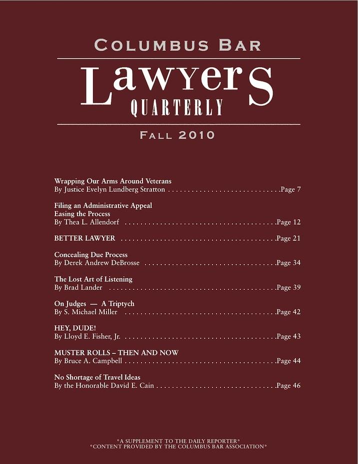 Columbus Bar Lawyers Quarterly (2010 - Fall)