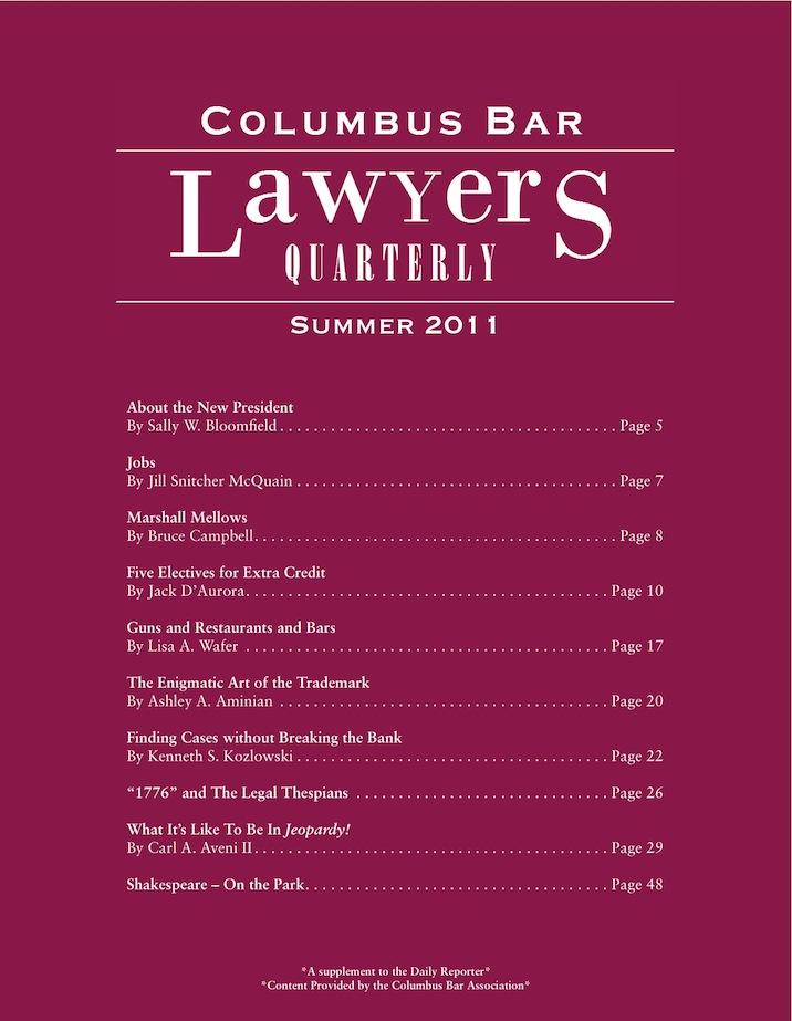 Columbus Bar Lawyers Quarterly (2011 - Summer)