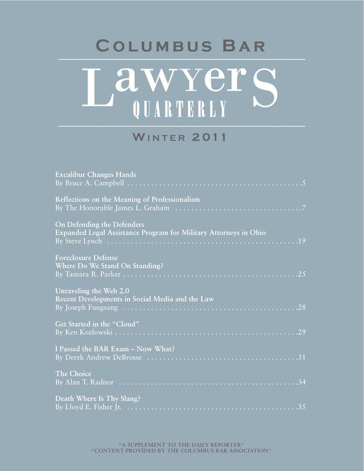 Columbus Bar Lawyers Quarterly (2011 - Winter)