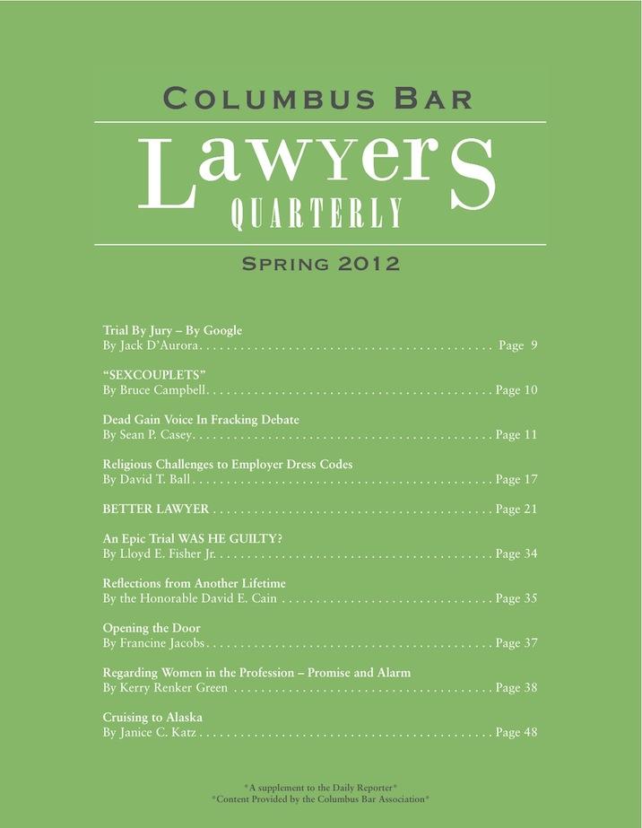Columbus Bar Lawyers Quarterly (2012 - Spring)