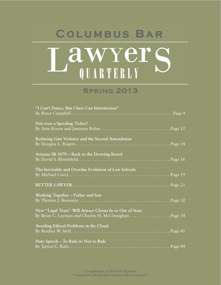 Columbus Bar Lawyers Quarterly (2013 - Spring)