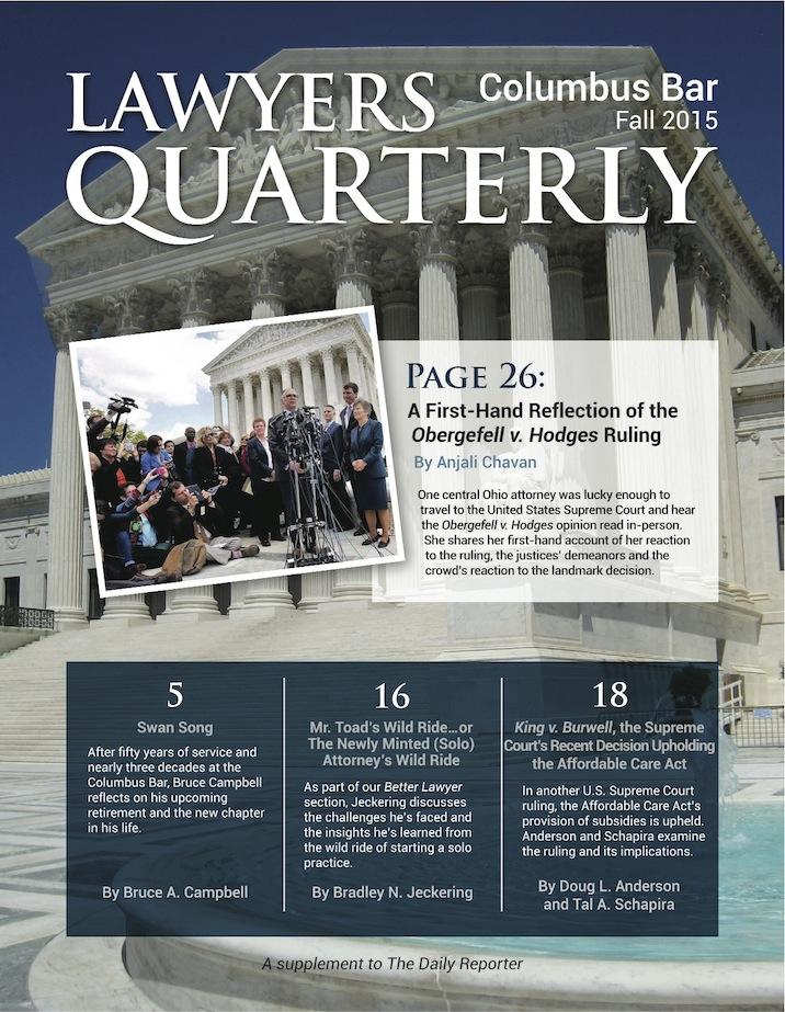 Columbus Bar Lawyers Quarterly (2015 - Fall)