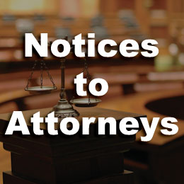 Notices for Attorneys