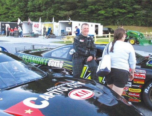 In the driver's seat: Vermont's governor is also one of its top stock car racers