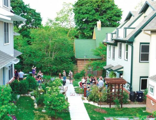 Cohousing developments put the emphasis on neighborhood