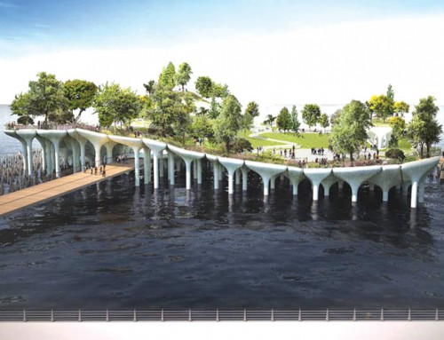 Futuristic New York pier project pits billionaire versus billionaire