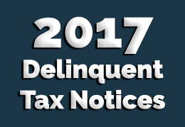 2017 Delinquent Tax Notices