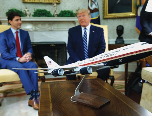 Trump shifts to talk of Air Force One