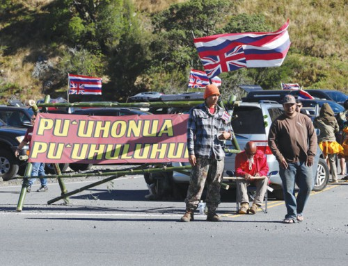 Hawaii activists protesting over start of work on telescope atop mountain