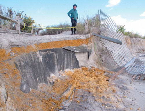 Wind, waves cause some beach erosion at New Jersey shore